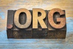 Domaine d'Internet d'org de point photos libres de droits