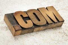 Domaine d'Internet de COM de point images libres de droits