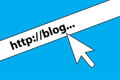 Domaine de blog illustration de vecteur