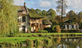 Domaine de Marie Antoinette in the park of Versailles Palace Stock Image