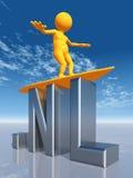 Domaine de premier niveau du NL des Hollandes Illustration Libre de Droits