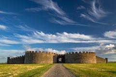 Domaine et Chambre inclinés de Hazlett, Irlande du Nord photographie stock libre de droits