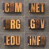 Domaines populaires d'Internet Photo libre de droits