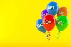 Domains with balloons Royalty Free Stock Images