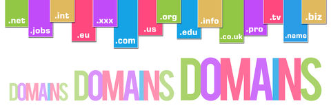 Domains Colorful Stripes Banner Stock Photography