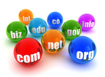 Domains concept illustration Royalty Free Stock Photo