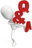 Domanda & risposte illustrazione di stock