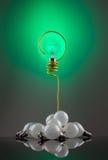 Domanda della lampadina Fotografia Stock Libera da Diritti