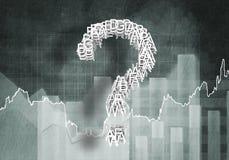 Domanda di crescita finanziaria, rappresentazione 3d Fotografie Stock Libere da Diritti