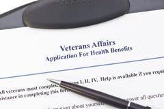 Domanda di VA di benefici Immagini Stock Libere da Diritti