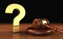 Domanda legale Mark Symbol Concept di legge Immagine Stock