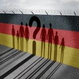 Domanda tedesca di immigrazione Fotografie Stock
