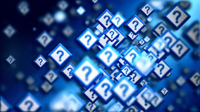 Domande della comunità di Internet in Cyberspace Fotografie Stock Libere da Diritti