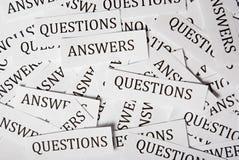 Domande e risposte Fotografie Stock Libere da Diritti