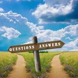 Domande e risposte Fotografie Stock