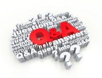 Domande e risposte Fotografia Stock Libera da Diritti