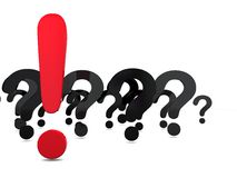 Domande e risposte illustrazione di stock
