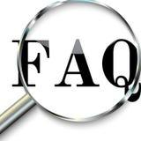 Domande frequentemente fatte, FAQ Immagini Stock