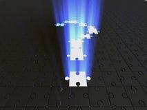 Domande. puzzle Fotografia Stock Libera da Diritti