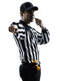 Domare för amerikansk fotboll som visslar konturn Arkivfoton