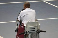 Domare i Valencia den öppna tennisen Spanien Royaltyfria Foton