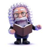 domaren 3d läser från en bok Royaltyfria Bilder