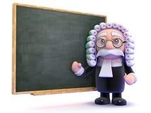 domaren 3d undervisar lag Arkivfoto