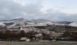 Domasnea village winter Stock Photography