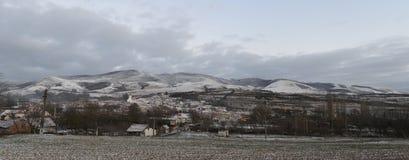 Domasnea village winter Royalty Free Stock Photo