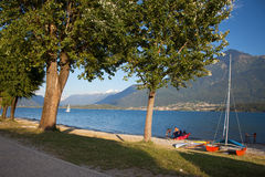 Domaso in Summer Stock Image