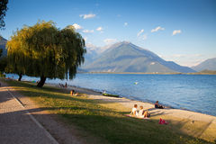 Domaso in Summer Stock Photography