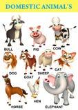 domastic animal chart Stock Photo