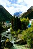 Dombai góra krajobraz Zdjęcie Royalty Free