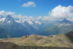 The mountains of Dombai. Dombai - a mountainous area in Karachay-Cherkessia in the North Caucasus Russia royalty free stock photo