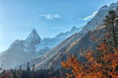 Dombai. Scenery of rockies in Caucasus region in Russia Stock Photography
