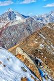 Dombai. Scenery of rockies in Caucasus region in Russia Stock Image