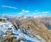 Dombai. Scenery of rockies in Caucasus region in Russia Stock Photos