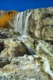 瀑布在Dombaj 免版税库存图片