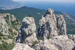 dombay αιχμές βουνών βουνών Καύκασου Στοκ εικόνα με δικαίωμα ελεύθερης χρήσης
