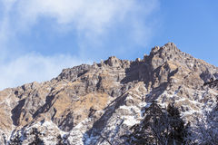 dombay αιχμές βουνών βουνών Καύκασου Στοκ Εικόνα