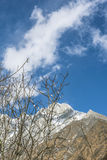 dombay αιχμές βουνών βουνών Καύκασου Στοκ Φωτογραφίες