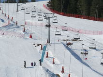 dombay κλίση σκι περιοχών Καύκασου Στοκ εικόνα με δικαίωμα ελεύθερης χρήσης