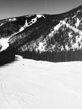 dombay κλίση σκι περιοχών Καύκασου Στοκ Εικόνες