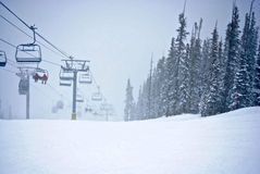 dombay κλίση σκι περιοχών Καύκασου Στοκ Φωτογραφία