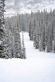 dombay κλίση σκι περιοχών Καύκασου Στοκ φωτογραφίες με δικαίωμα ελεύθερης χρήσης