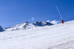 dombay κλίση σκι περιοχών Καύκασου Στοκ Εικόνα