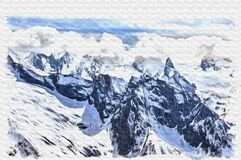 Free Dombay. Mountain. Imitation Of A Picture. Oil Paint. Illustration Royalty Free Stock Image - 180647986