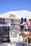 Dombay. Mountain market Stock Image