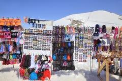 Dombay. Mountain market Stock Photography