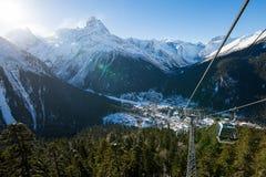 The Dombay ski resort royalty free stock photography